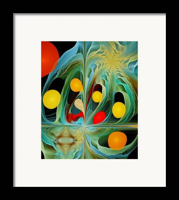 Fractal Framed Print featuring the digital art An Infinite Potential by Gayle Odsather