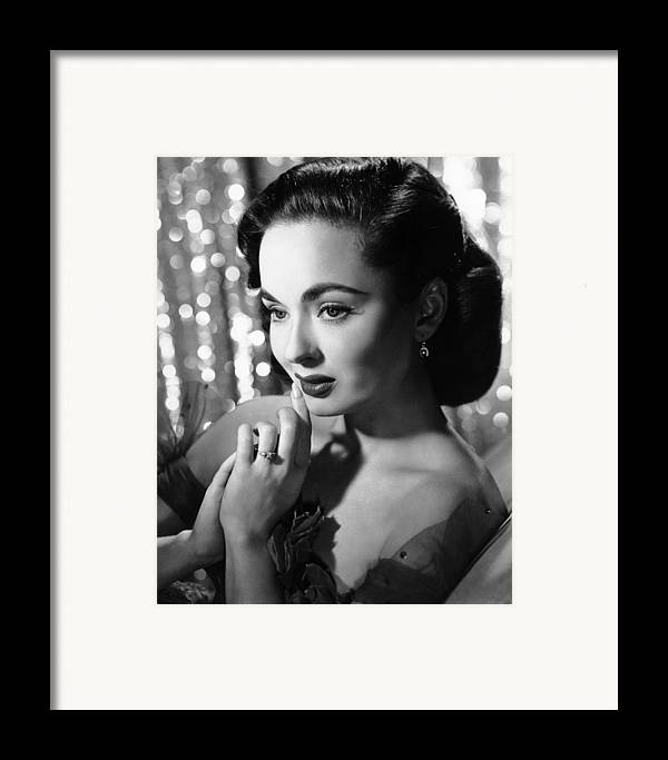 1950s Portraits Framed Print featuring the photograph Ann Blyth, Ca. 1950s by Everett