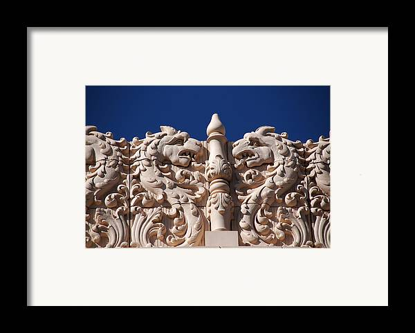 Architectur In Santa Fe Framed Print featuring the photograph Architecture At The Lensic Theater In Santa Fe by Susanne Van Hulst