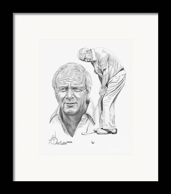 Arnold Palmer Framed Print featuring the drawing Arnold Palmer by Murphy Elliott