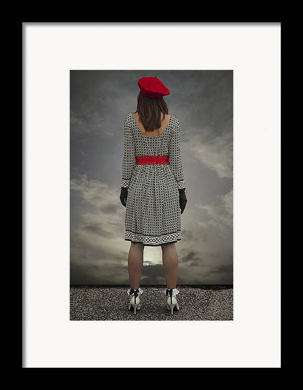 Woman Framed Print featuring the photograph At The Edge by Joana Kruse