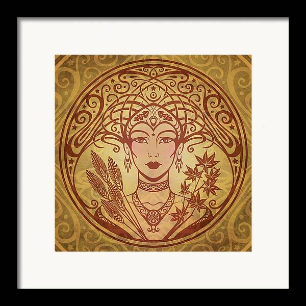 Fall Framed Print featuring the painting Autumn Queen by Cristina McAllister