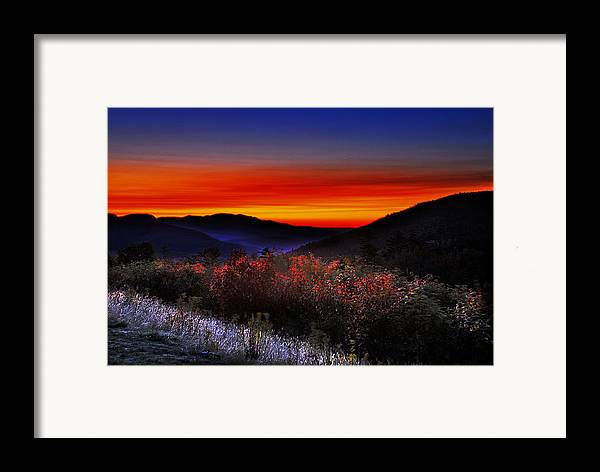 Sunrise Framed Print featuring the photograph Autumn Sunrise by William Carroll