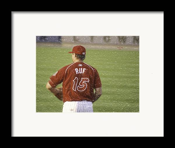 Baseball Framed Print featuring the photograph Babe Ruf by Trish Tritz