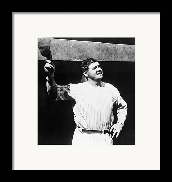 1930s Candid Framed Print featuring the photograph Babe Ruth 1895-1948, American Baseball by Everett