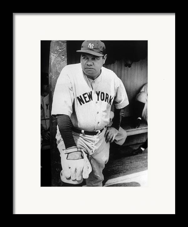 1930s Candid Framed Print featuring the photograph Babe Ruth In The New York Yankees by Everett