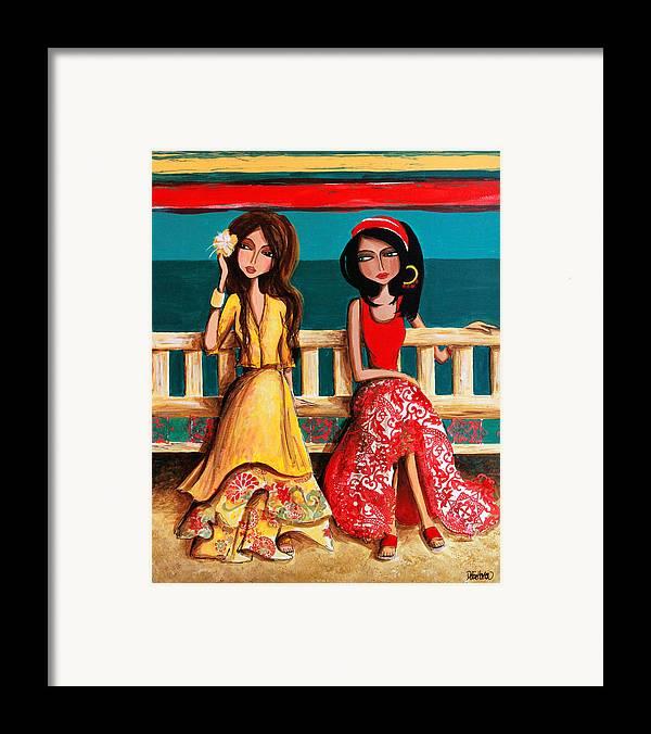 Bahama Framed Print featuring the painting Bahama Breeze by Debbie Horton