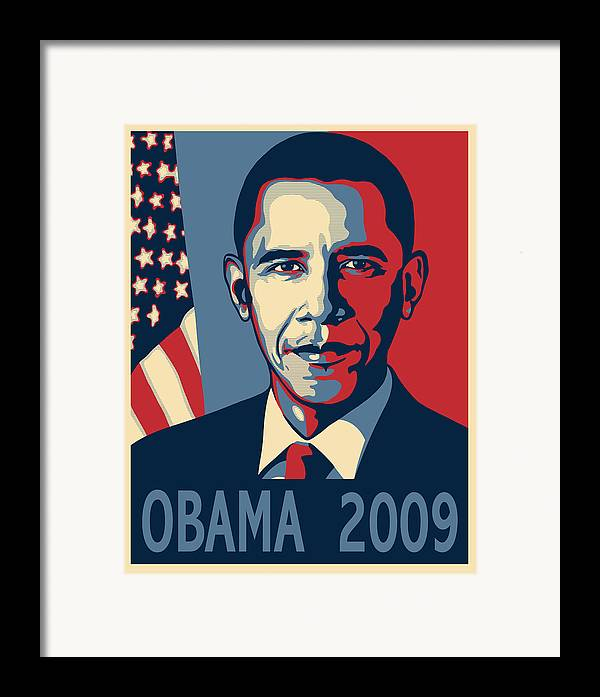 Portrait Poster Framed Print featuring the digital art Barack Obama Presidential Poster by Sue Brehant