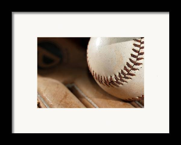 Baseball Framed Print featuring the photograph Baseball by Felix M Cobos