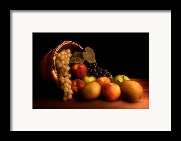 Fruit Framed Print featuring the photograph Basket Of Fruit by Tom Mc Nemar