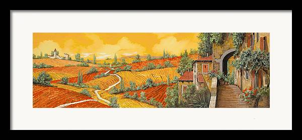 Tuscany Framed Print featuring the painting Bassa Toscana by Guido Borelli