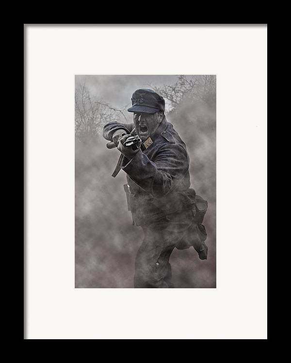 Soldier Framed Print featuring the photograph Bayonet Warrior by Mark H Roberts