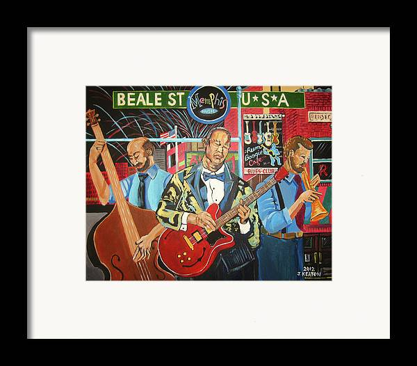 Beale Street Framed Print featuring the painting Beale Street by John Keaton