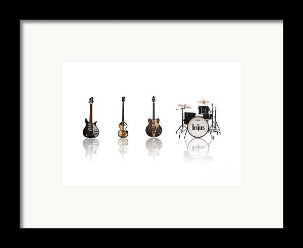 The Beatles Framed Print featuring the digital art Beat Of Beatles by Six Artist