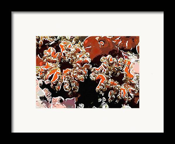 Starfish Framed Print featuring the painting Beautiful Marine Plants 5 by Lanjee Chee