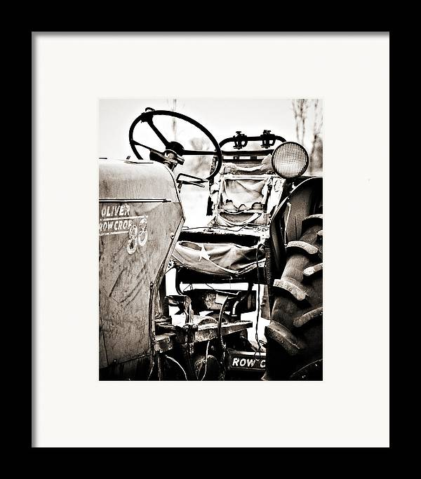 Americana Framed Print featuring the photograph Beautiful Oliver Row Crop Old Tractor by Marilyn Hunt
