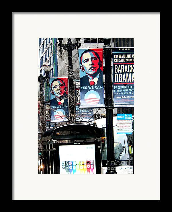 Barack Obama Framed Print featuring the photograph Before The Heavy Lifting Begins by David Bearden