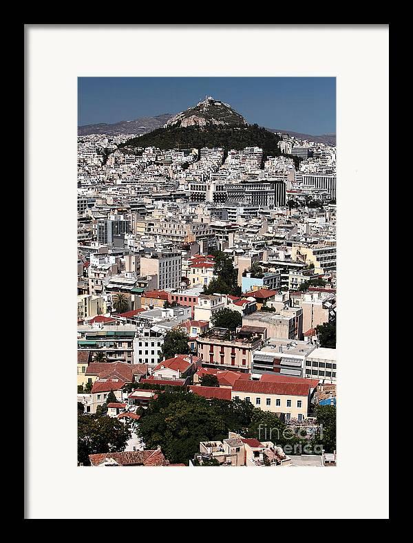 Below Mount Lykavittos Framed Print featuring the photograph Below Mount Lykavittos by John Rizzuto