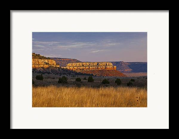 Black Mesa Framed Print featuring the photograph Black Mesa Sunrise by Charles Warren