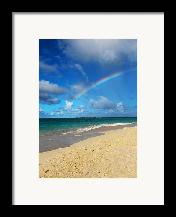 Rainbow Framed Print featuring the photograph Blessed With A Rainbow by Kerri Ligatich