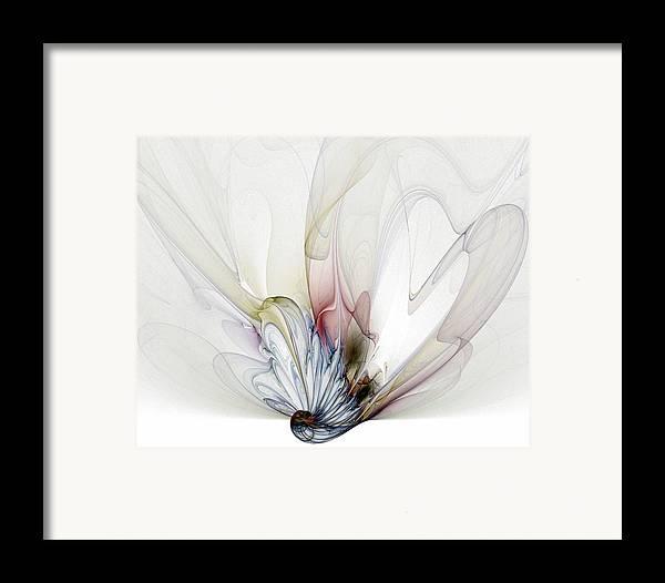 Digital Art Framed Print featuring the digital art Blow Away by Amanda Moore