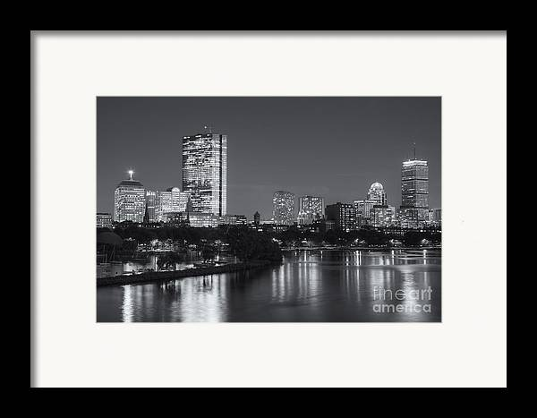 Clarence Holmes Framed Print featuring the photograph Boston Night Skyline V by Clarence Holmes
