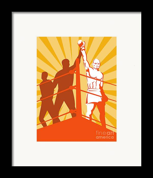 Boxing Framed Print featuring the digital art Boxing Champion by Aloysius Patrimonio