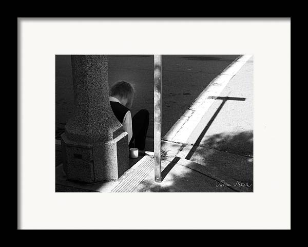 Cross Framed Print featuring the photograph Break Time by Sabine Stetson