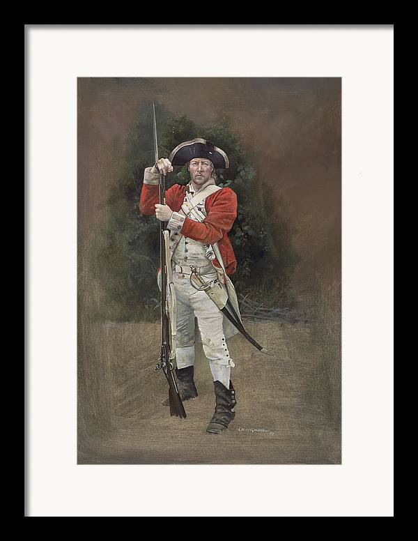 Redcoat Framed Print featuring the painting British Infantryman C.1777 by Chris Collingwood