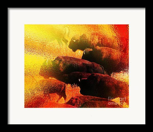 Abstract Framed Print featuring the photograph Buffalo Sun by Terril Heilman