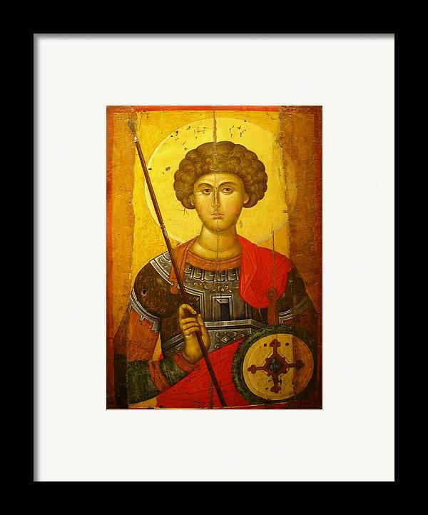 Byzantine Knight Framed Print featuring the photograph Byzantine Knight by Ellen Henneke