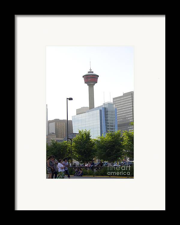 Portrait Framed Print featuring the photograph Calgary Tower View 2 by Donna Munro