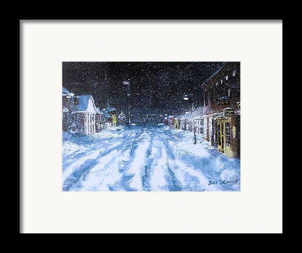Snow Framed Print featuring the painting Call Out The Plows by Jack Skinner