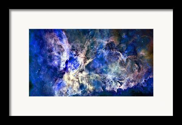Carinae Nebula Framed Print featuring the photograph Carinae Nebula by Michael Tompsett