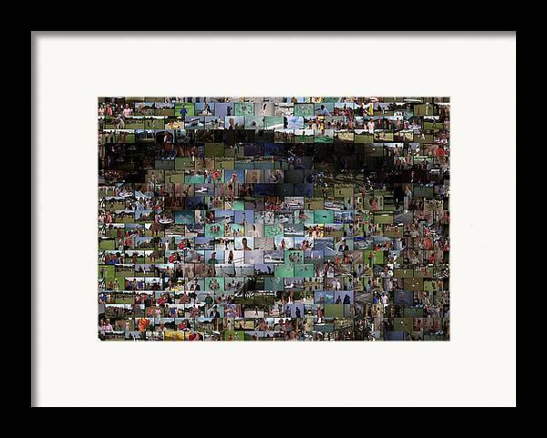 Bill Murry Framed Print featuring the mixed media Carl Caddyshack Mosaic by Paul Van Scott