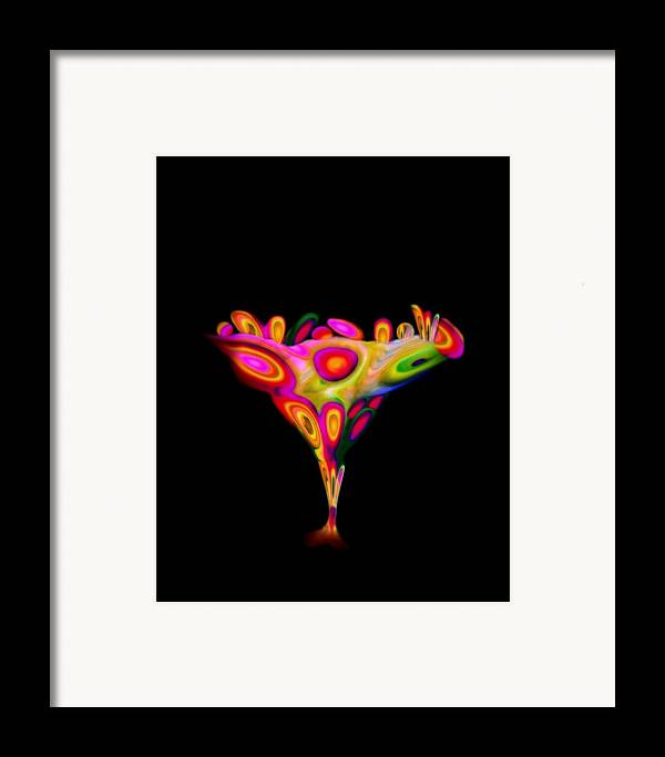 Chalice Framed Print featuring the mixed media Chalice by Jacqueline Migell