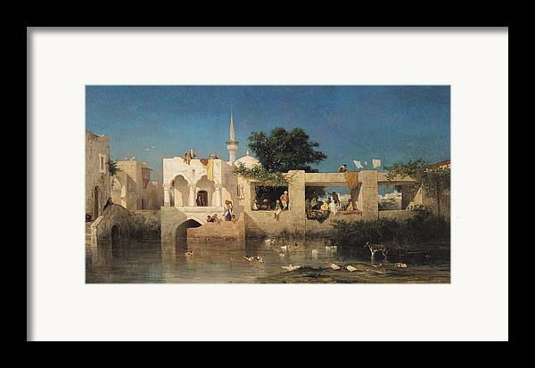 Cafe Framed Print featuring the painting Charles Emile De Tournemine by Cafe in Adalia