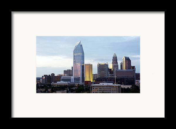 Charlotte Framed Print featuring the photograph Charlotte Skyline by Tim Mattox