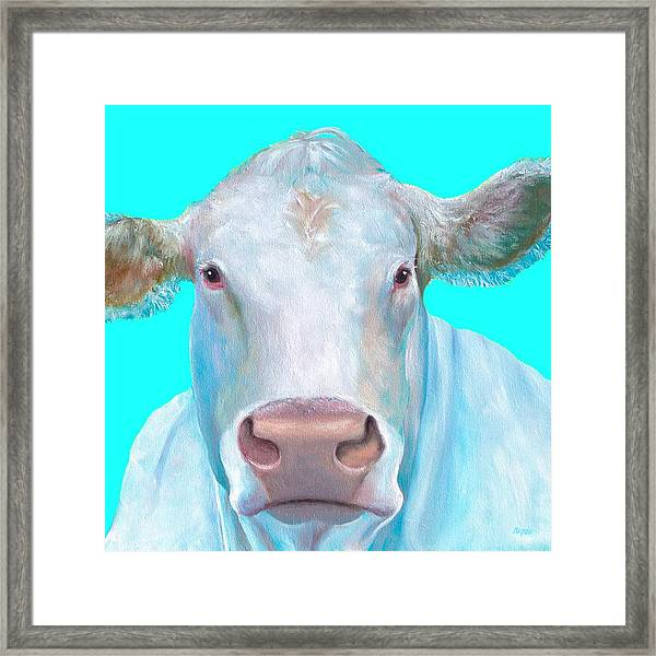 Blue cow print background - photo#22