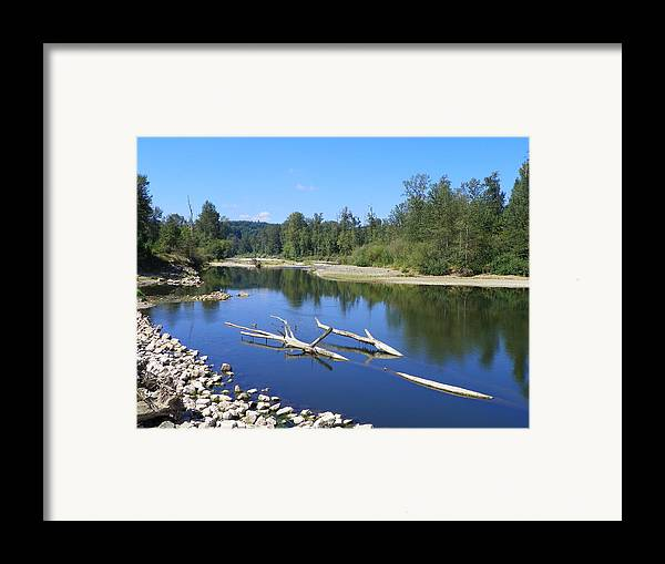 Digital Photography Framed Print featuring the photograph Chehalis River Washington by Laurie Kidd