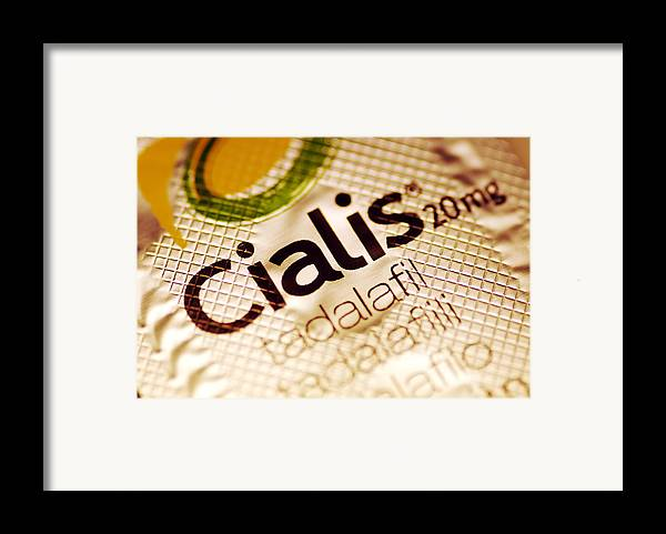 Cialis Framed Print featuring the photograph Cialis Packaging by Pasieka
