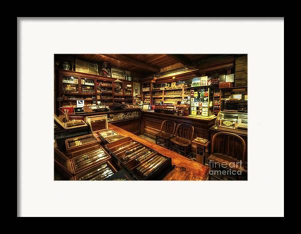 Art Framed Print featuring the photograph Cigar Shop by Yhun Suarez