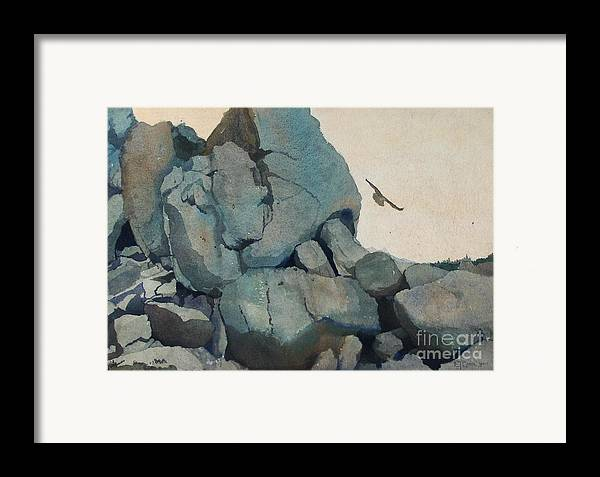 Landscape Framed Print featuring the painting Cleft For Me by Elizabeth Carr