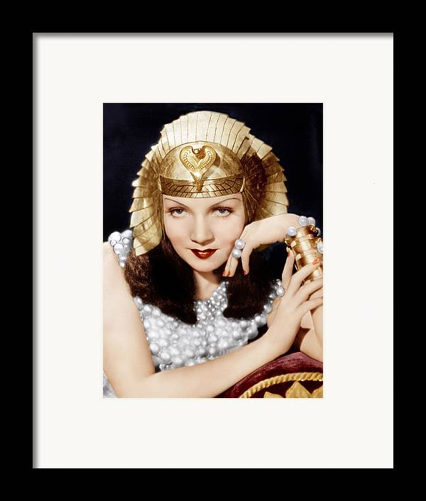 1930s Movies Framed Print featuring the photograph Cleopatra, Claudette Colbert, 1934 by Everett