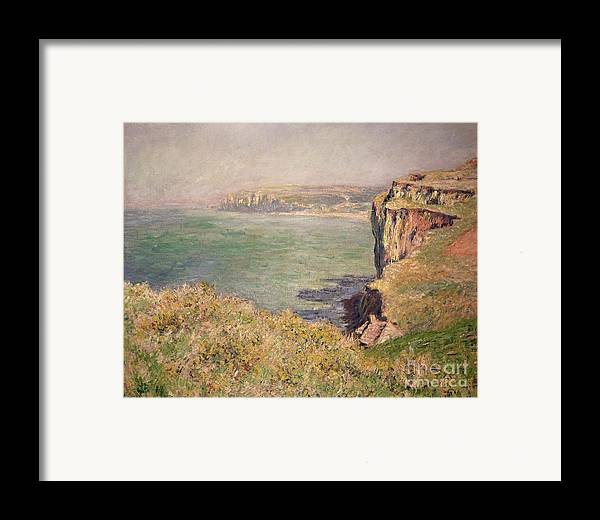 Cliff Framed Print featuring the painting Cliff At Varengeville by Claude Monet