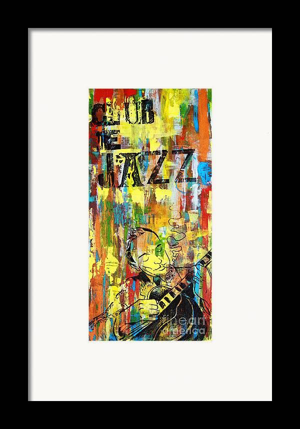 Club Framed Print featuring the mixed media Club De Jazz by Sean Hagan