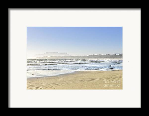 Pacific Framed Print featuring the photograph Coast Of Pacific Ocean On Vancouver Island by Elena Elisseeva