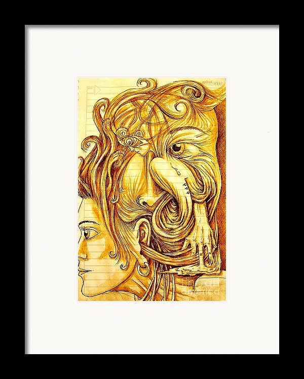 Cognitive Processes Framed Print featuring the painting Cognitive Processes by Paulo Zerbato