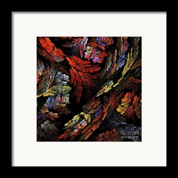 Color Framed Print featuring the painting Color Harmony by Oni H