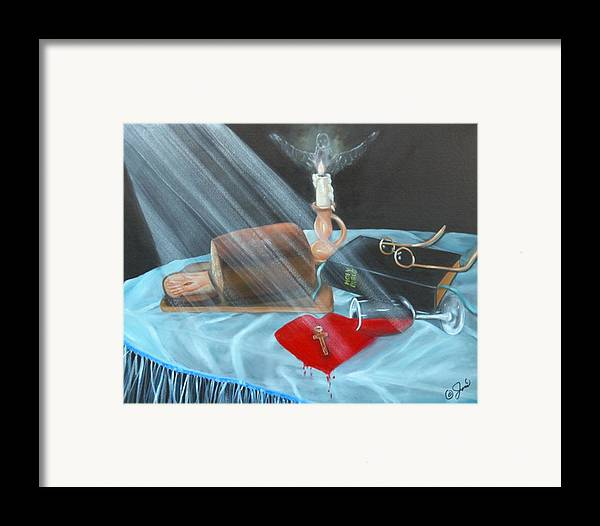 Oil Paintings Framed Print featuring the painting Communion by Joni McPherson